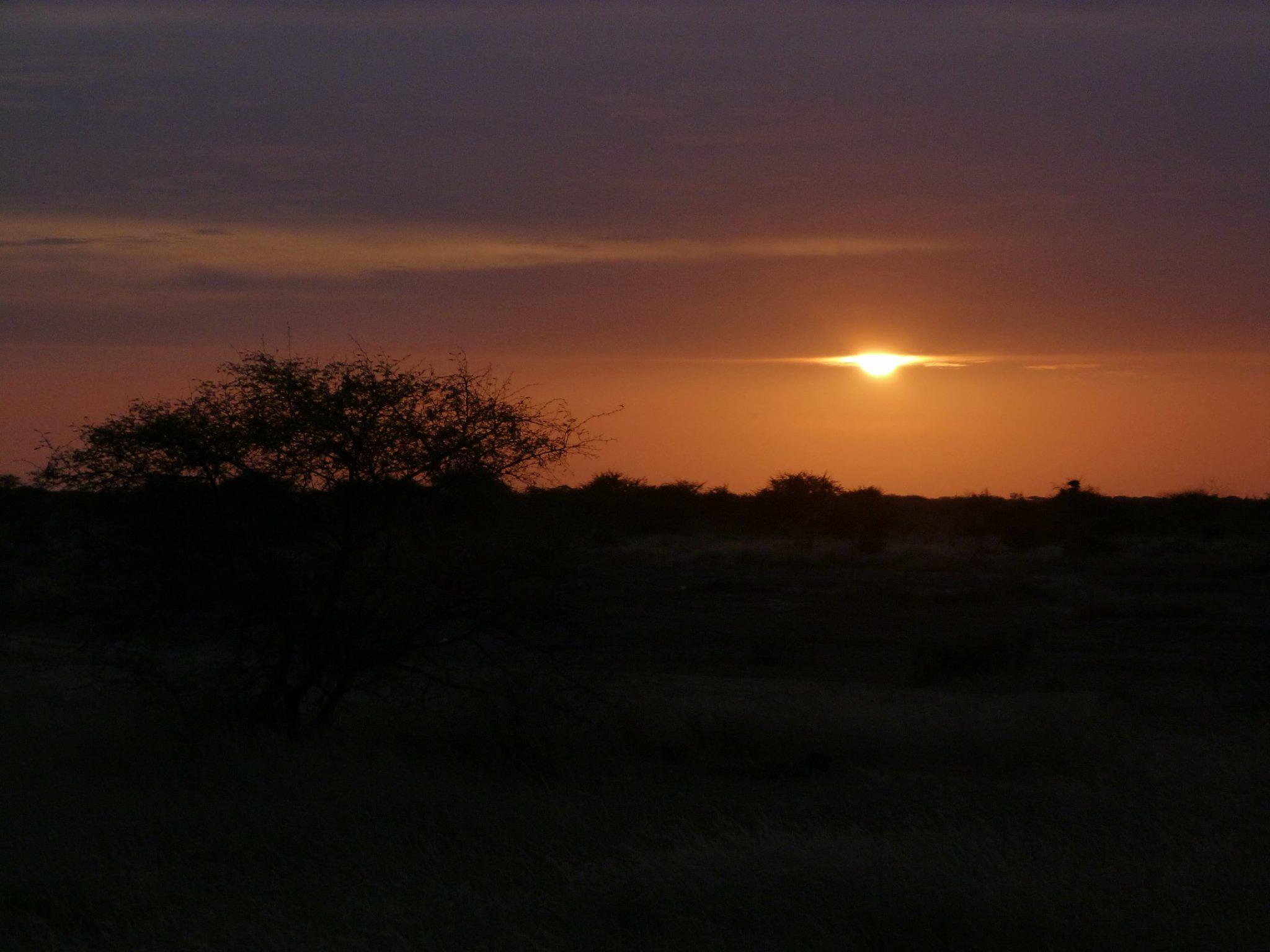 coucher de soleil Saint-Louis Sénégal